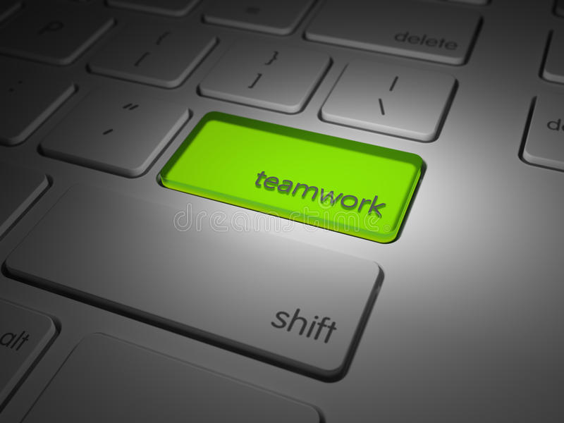 Download Highlighted Teamwork Computer Key Stock Image - Image of connection, highlight: 33705241