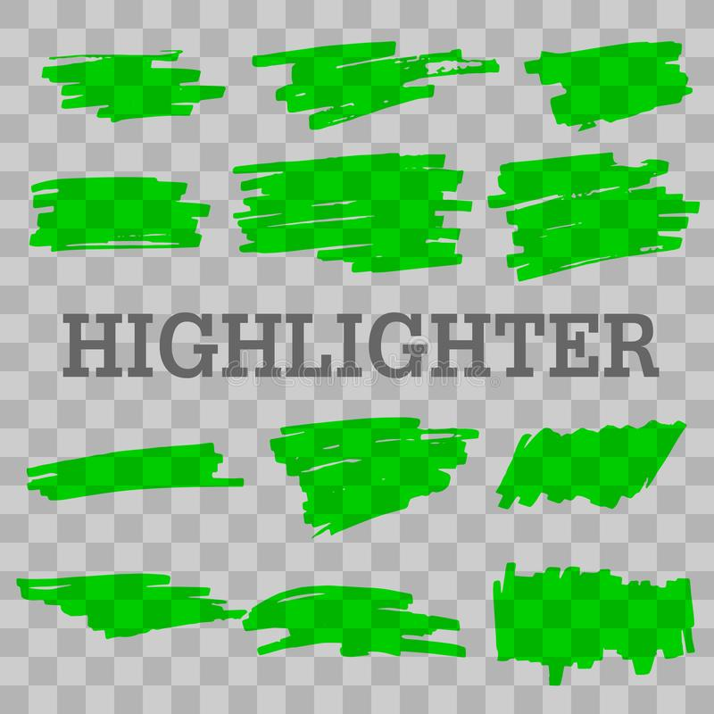 highlighter illustration de vecteur