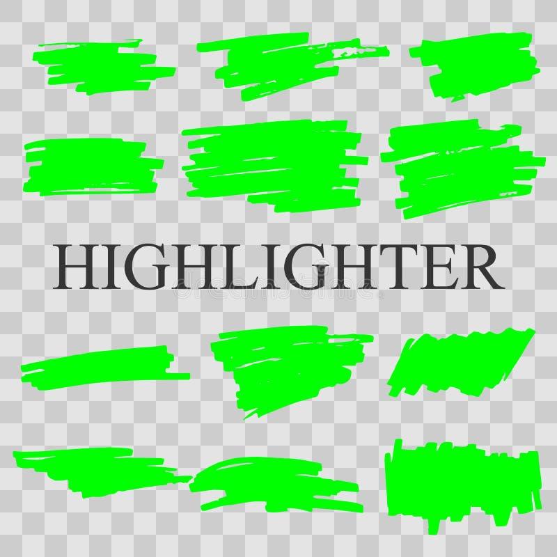 highlighter illustration stock