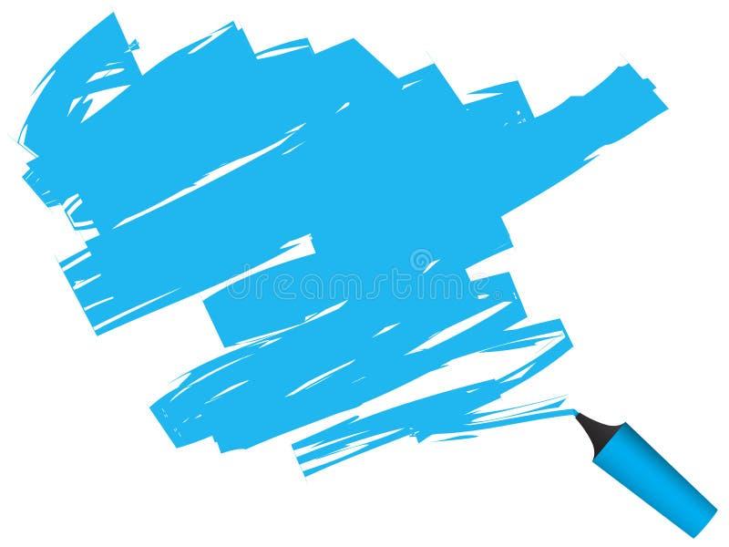 highlighter długopis. ilustracja wektor