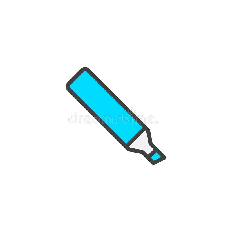 Highlighter pen filled outline icon royalty free illustration