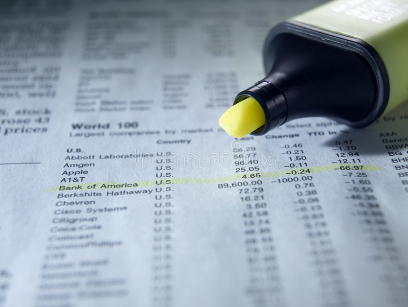 Download Highlighter And Stocks Royalty Free Stock Image - Image: 9087016