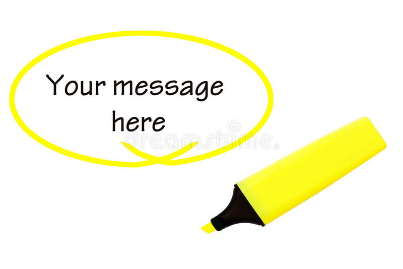 Highlighter for your message royalty free stock image