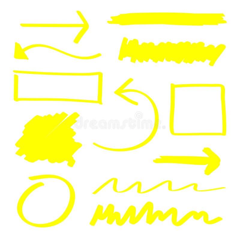 Highlighterelementen vector illustratie