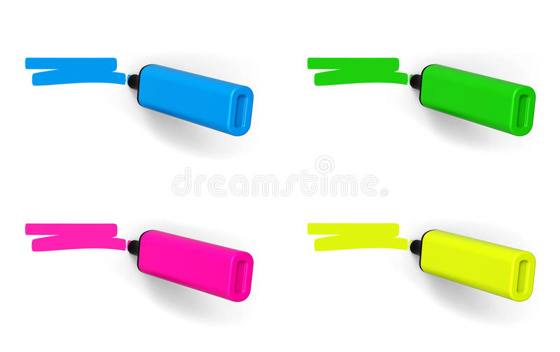 highlighters illustration stock