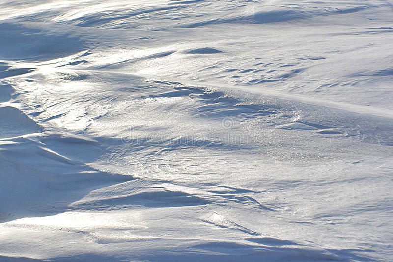 Highlights on Drifted Snow stock photography