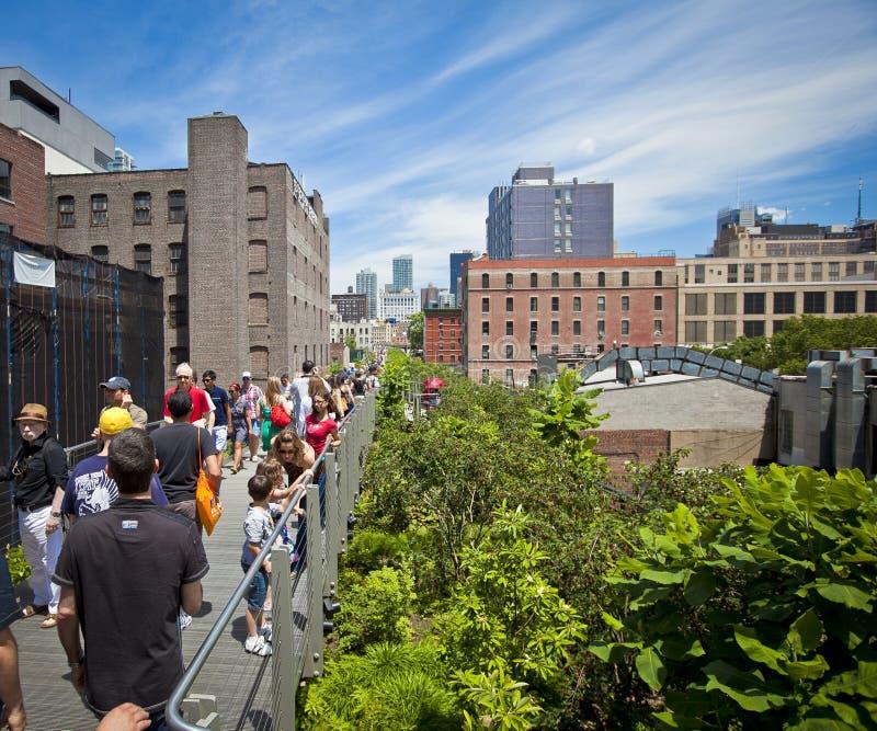 Highline in New York stock photos