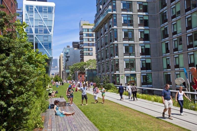 highline New York arkivfoto
