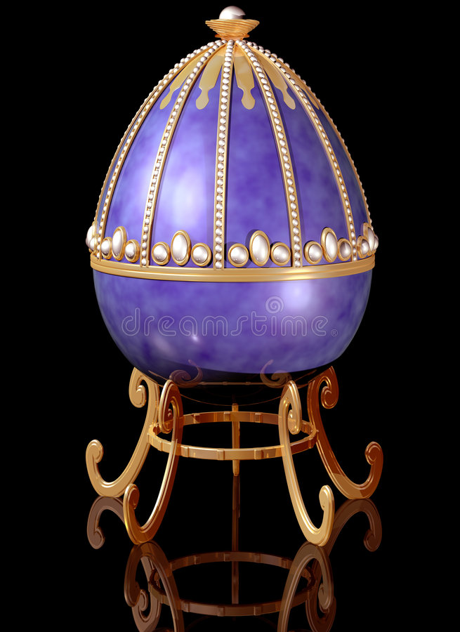 Download Highly Decorative Jeweled Russian Easter Egg Stock Illustration - Image: 8282431