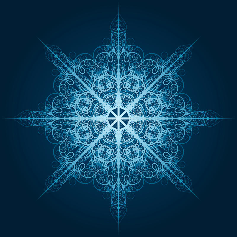 Download Highly Detailed Blue Snowflake Stock Vector - Illustration of ornament, celebration: 21245946