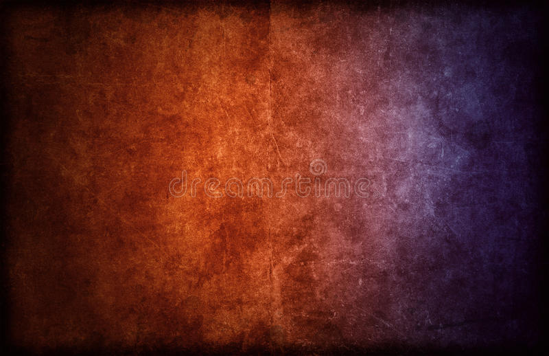 Highly Detailed Dark Background texture with Color Gradient. A detailed, rough background or backdrop texture graphic design with color gradient from orange to royalty free illustration