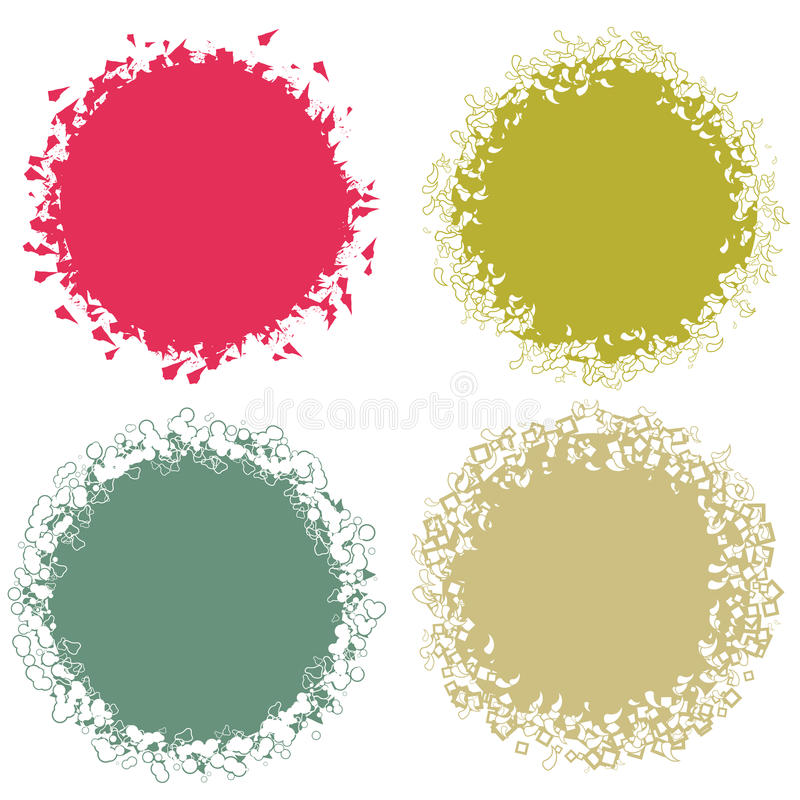 Download Highly Detailed Grunge Circles Stock Vector - Image: 11984880