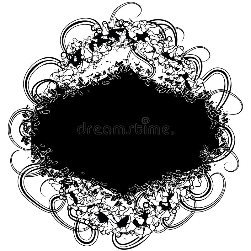 Highly detailed grunge frame vector illustration