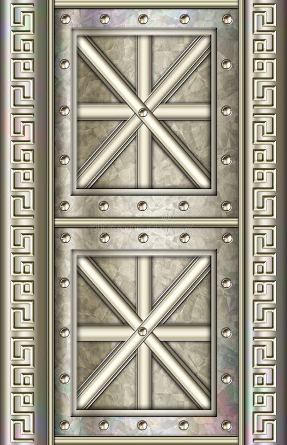 Free Highly Detailed Metal Door Panel Stock Photo - 559750