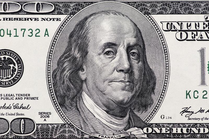 Dollars closeup.Highly detailed picture of American money royalty free stock photos