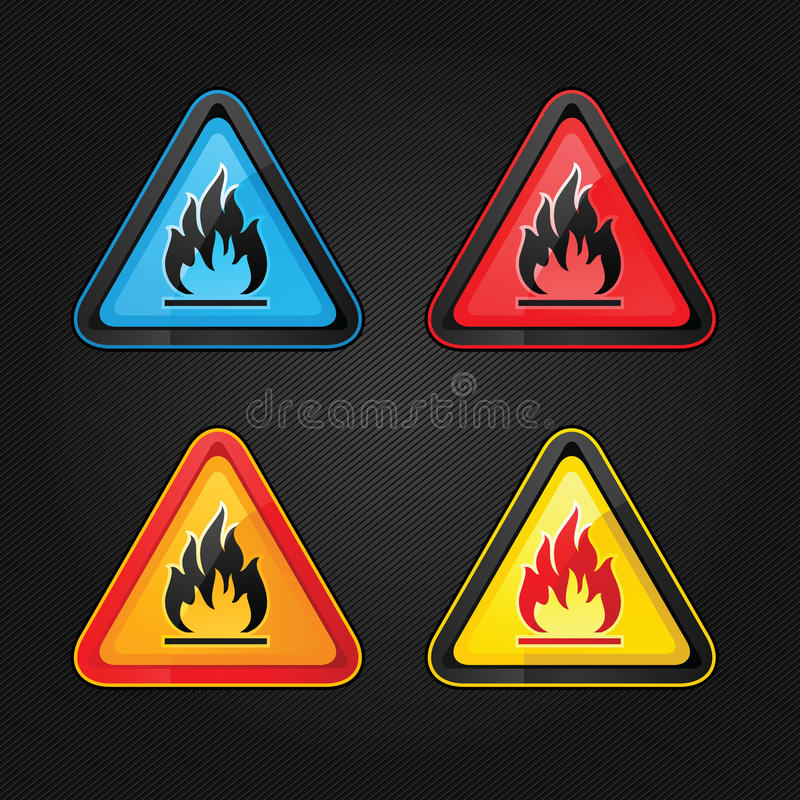 Download Highly Flammable Warning Symbols Stock Vector - Image: 23641815
