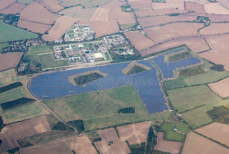 Highpoint van de zonnepaneelinstallatie Gevangenis royalty-vrije stock foto's