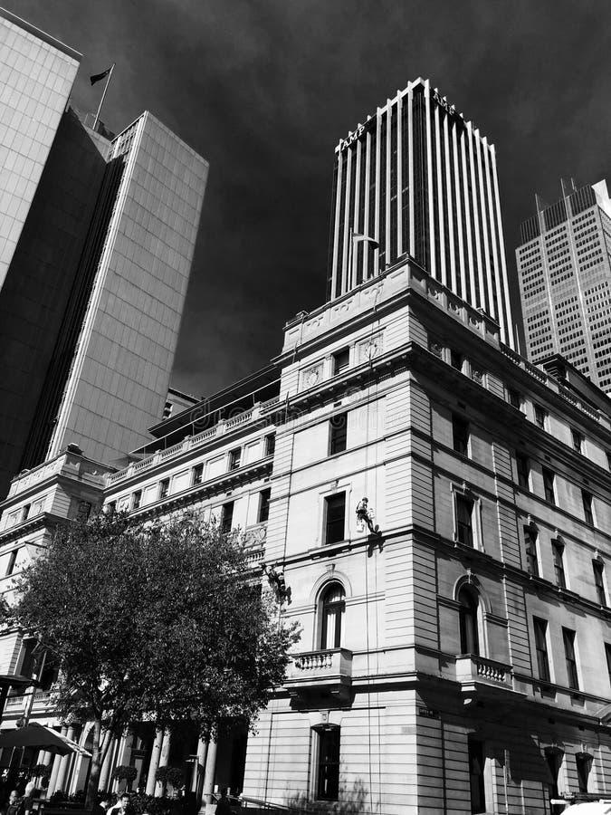 Highrise Сиднея зданий города городской стоковая фотография