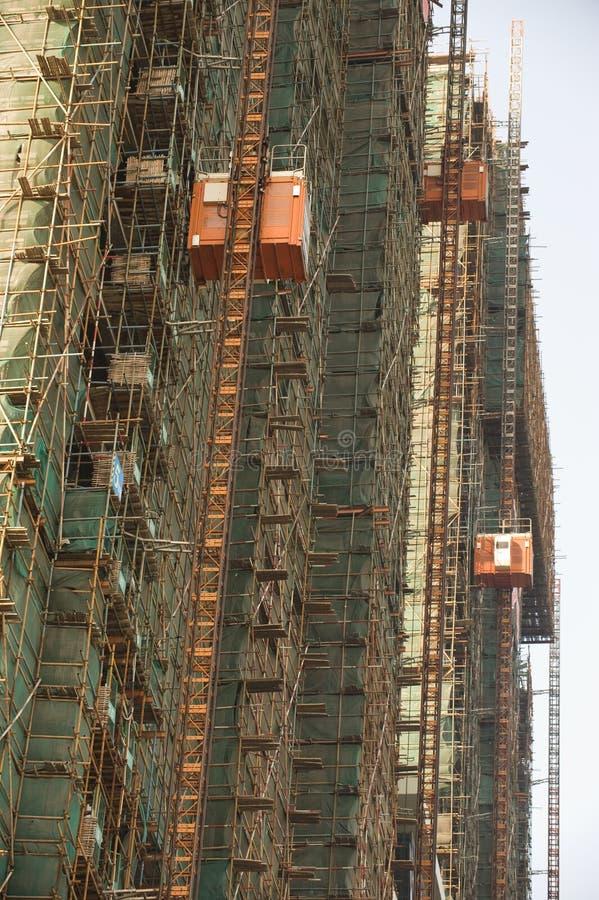Highrise bouw royalty-vrije stock afbeelding
