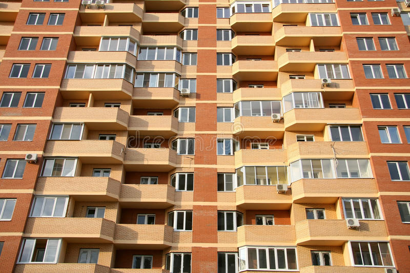 Download Highrise Condominium stock photo. Image of brick, outdoors - 12491750