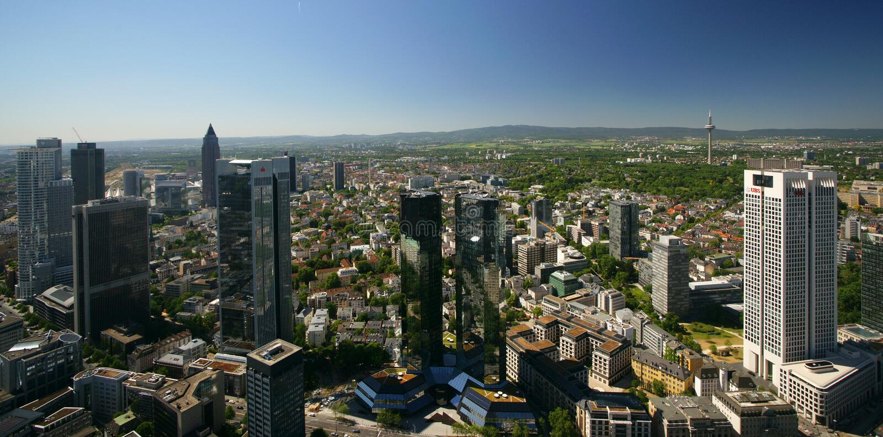 highrise frankfurt зданий стоковые фото