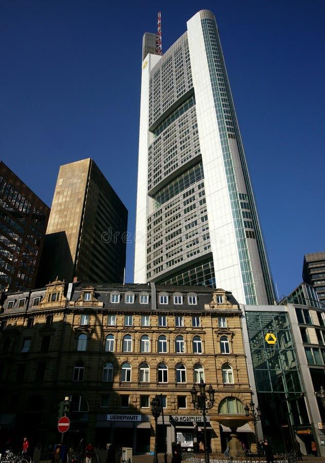 highrise frankfurt здания стоковое изображение rf