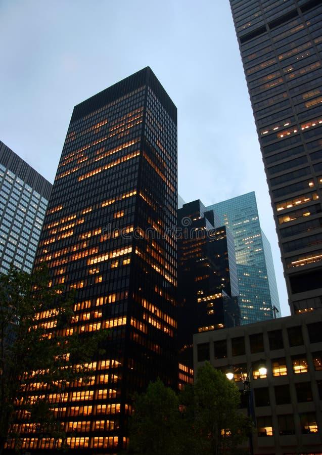 Highrise gebouwenverticaal royalty-vrije stock afbeeldingen