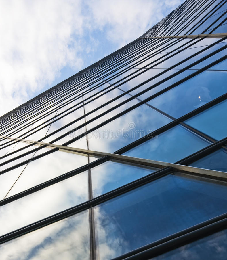 Free Highrise Glass Building With Sky And Cloud Stock Photos - 14635563