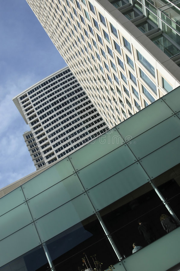 Highrise with Green Glass royalty free stock photos