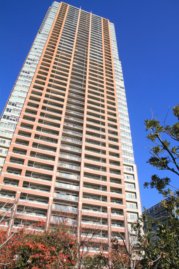 Highrise kondominium w Musashikosugi obrazy royalty free