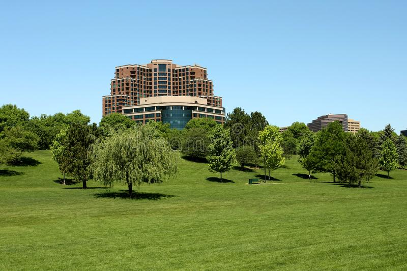 Highrise and Large Green Space