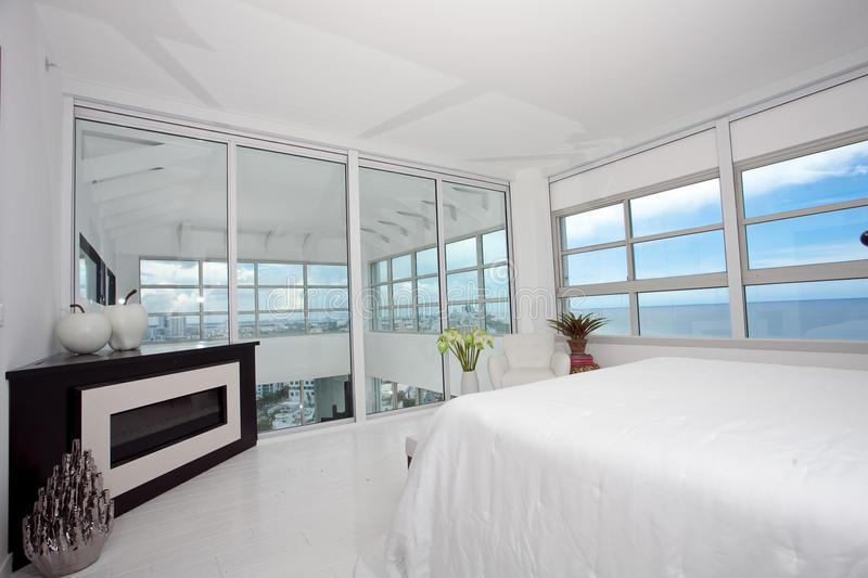 Download Highrise master bedroom stock photo. Image of rise, aqua - 27896684