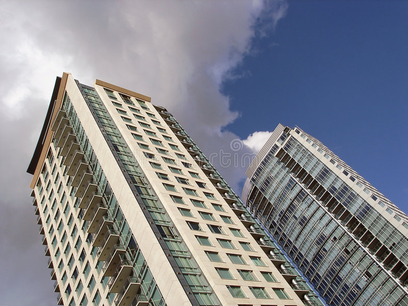 Highrise Residential Buildings Royalty Free Stock Photography