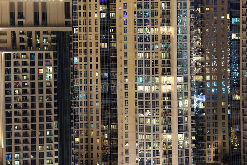 Highrise residential buildings in the city stock images
