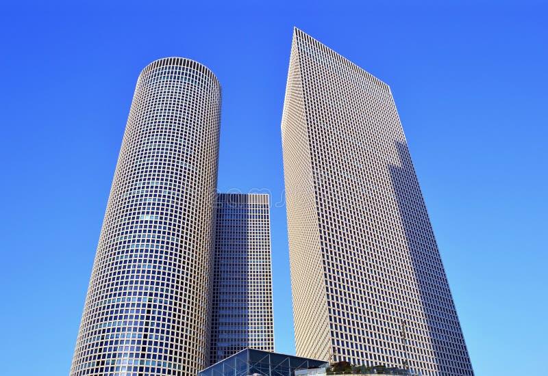 Highrise skyscrapers of Azrieli Center stock photos