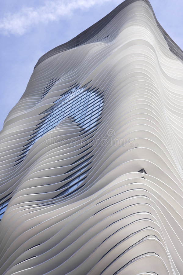 Highrise van Chicago Flatgebouw stock foto