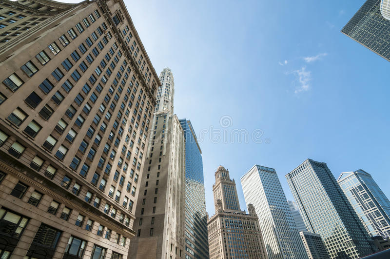 Highrise van Chicago gebouwen royalty-vrije stock afbeeldingen