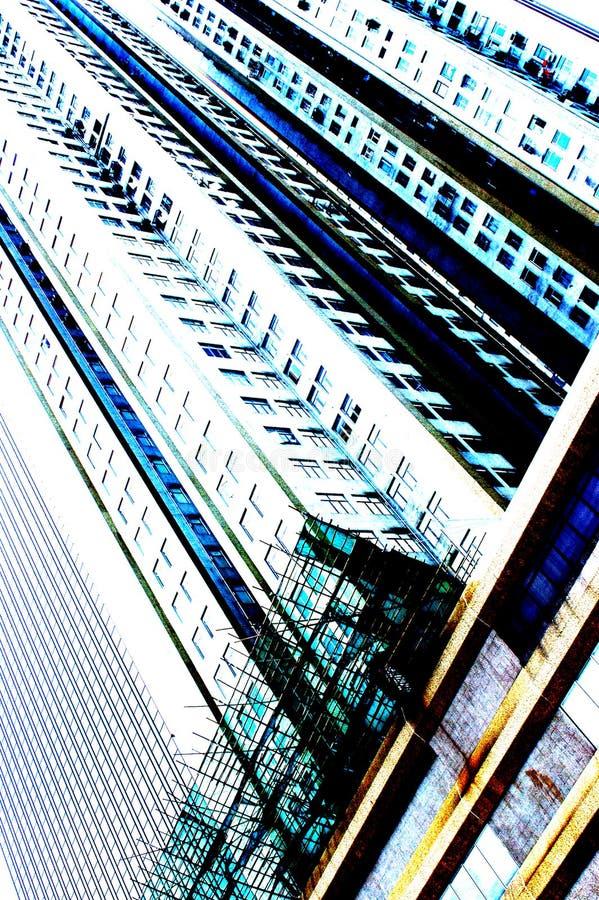 Highrise van Hongkong royalty-vrije stock fotografie
