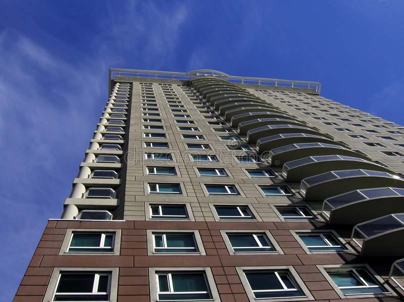 Highrise-Wohnungen Stockfoto