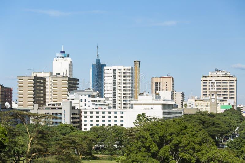 Highrises горизонта Найроби, Кения стоковые фотографии rf