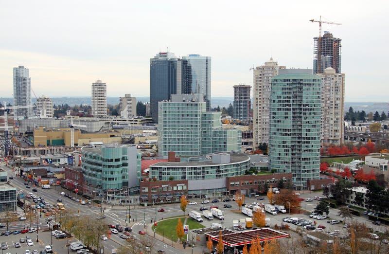 Highrises de Burnaby et mail de Metrotown photo libre de droits