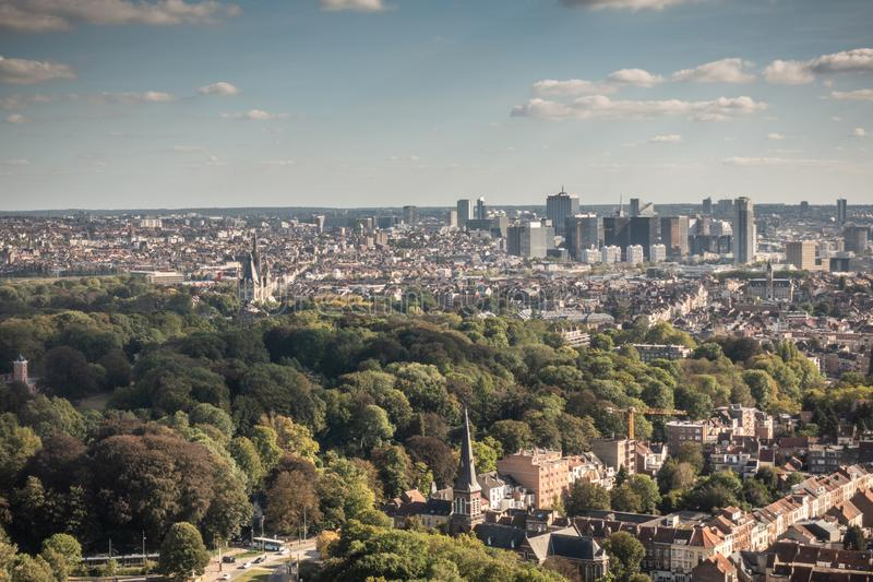 Highrises of North quarter of Brussels, Belgium. royalty free stock photos