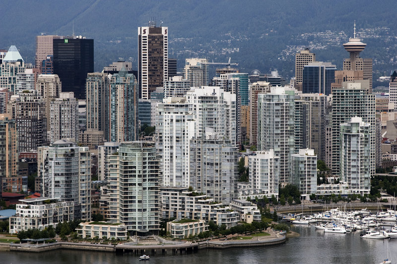 highrises Vancouver obraz royalty free