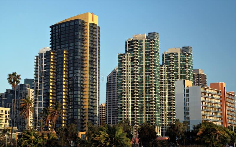 I stadens centrum San Diego fotografering för bildbyråer