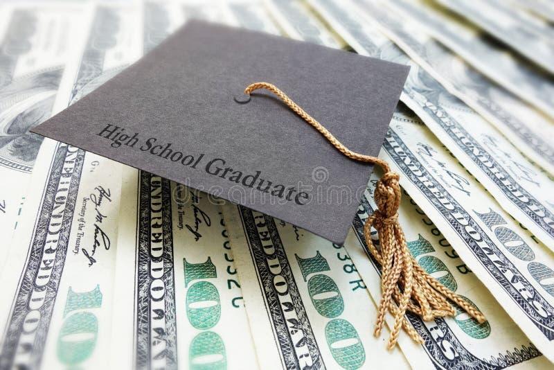 Highschool Absolventgeld stockfotos