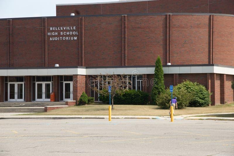 Highschool Auditorium stockfotografie