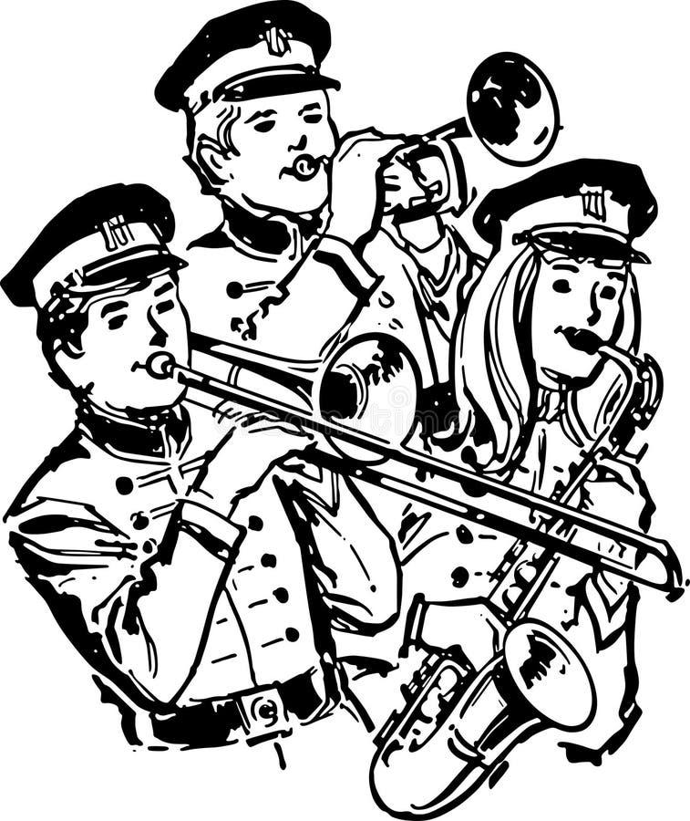 Highschool Band lizenzfreie abbildung