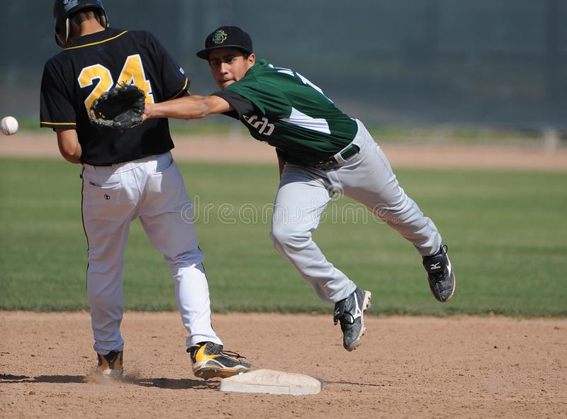 Highschool Baseball stockfotos