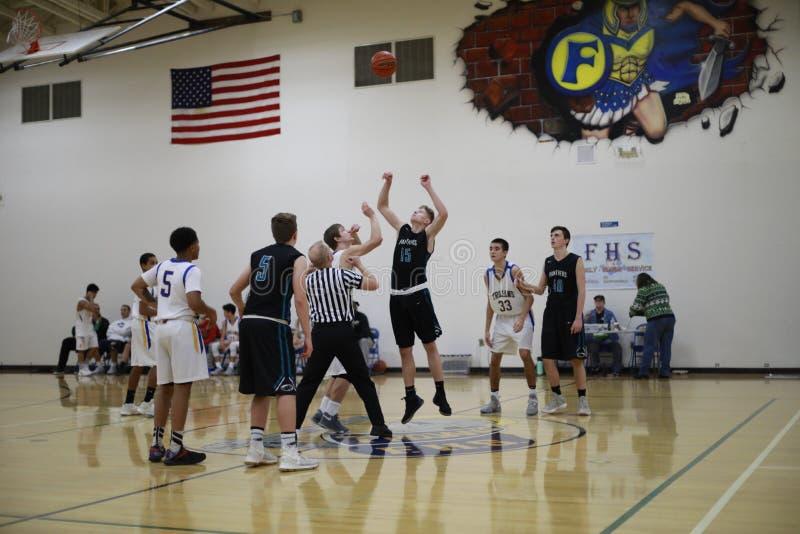Highschool Basketballspiel lizenzfreie stockfotografie
