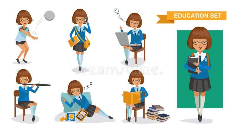 Highschool der Mädchen lizenzfreie abbildung